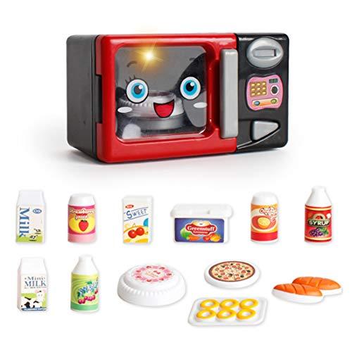 MAJOZ Kinder Mini Mikrowelle Spielzeug mit Licht und Sound, Rollenspiel Kinder Spielzeug Pretend Play Toys