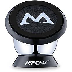 Soporte Magnético Universal con Pegatinas Metalicas, Mpow Soporte Auto Car Mount Metálico 360° Rotación Apoyo Pegar a Cualquier Superficie para iPhone7/ 6/ 6s 6 Plus y Android Móviles.