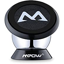 Soporte Magnético Universal con Pegatinas Metalicas, Mpow Soporte Auto Car Mount Metálico 360° Rotación Apoyo Pegar a Cualquier Superficie para iPhone7/ 6/ 6s 6 Plus y Android
