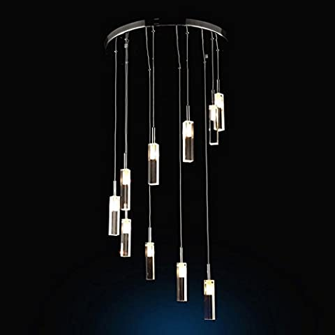 Modern Clear Crystal Glass Cuboid Hanging Pendant Lamp Fixture Chandelier