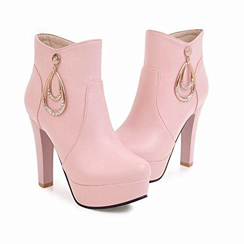 Misssasa Femme Chaussures À Talons Hauts Élégante Et Belle Rose