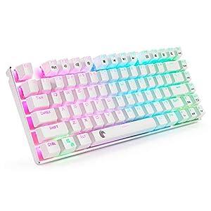 z-88RGB LED-Hintergrundbeleuchtung Wasserdichten Mechanical Gaming Tastatur mit 81Schlüssel Anti-Ghost Schlüssel