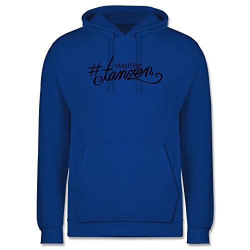 Statement Shirts - #weitertanzen - Männer Premium Kapuzenpullover / Hoodie Royalblau