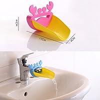 Caractéristiques En utilisant ce robinet chute d'eau, pour aider vos enfants à se laver les mains facilement Monter pour la plupart des robinets de salle de bains classiques Dessin coloré mignon de forme de crabe, attirer vos bébés se laver les mains...