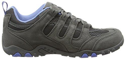 Hi-Tec Quadra Classic, Chaussures de Randonnée Basses femme Gris (Grey/Charcoal/Cornflower 051)