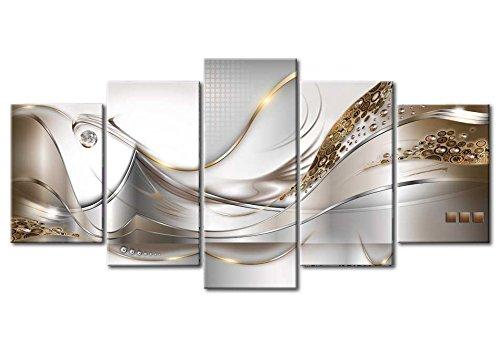 murando - Acrylglasbild Abstrakt 200x100 cm - 5 Teilig - Glasbilder - Wandbilder XXL - Wandbild - Bilder a-A-0004-k-o - 6