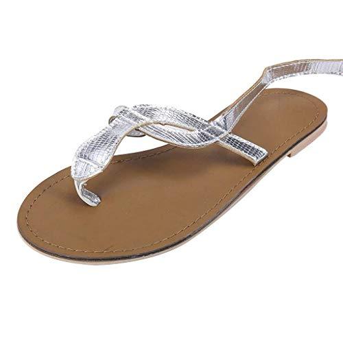 iHAZA Estate Pizzico Sandali Piatta Caviglia Cinghie Serpente Modello Di Grandi Dimensioni Scarpe Da Donna