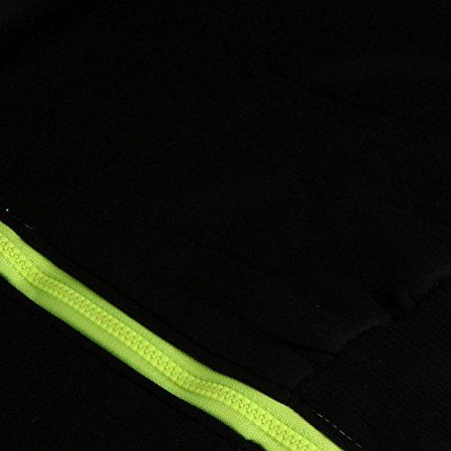 Ouneed® Femme FLUO Sweat Shirt a Capuche ZIppe D