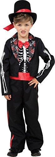 Kinder Halloween Kostüm Party Buch Woche Tag Skelett Tag der Toten Kostüm - Multi, Large (Buch Der Woche Kostüme)