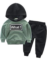Snyemio Niño Otoño Invierno Ropa Conjuntos Sudaderas + Pantalones Bebé Manga Larga Suéter Capucha Tops