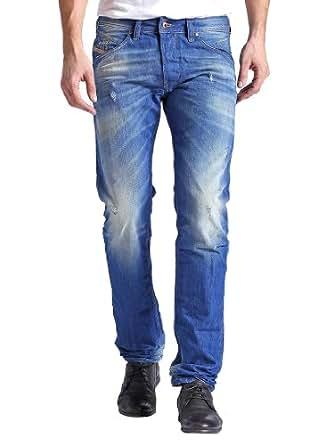 Diesel - Bleu Belther Regular Slim Tapered Jeans - Homme - Taille: W29-L32