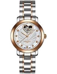 Roamer-Felltrimmer Damen Automatik Uhr mit Perlmutt Zifferblatt Analog-Anzeige und zweifarbigem Armband Edelstahl 556661461950