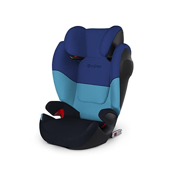 CYBEX Silver Solution M-Fix SL Child's Car Seat, for Cars with and Without ISOFIX, Group 2/3 (15-36 kg), from Approx. 3 to Approx. 12 Years, Blue Moon  Sturdy and high-quality child car seat for long-term use - For children aged approx. 3 to approx. 12 years (15-36 kg), Suitable for cars with and without ISOFIX Maximum safety - Built-in side impact protection (L.S.P. System), Energy-absorbing shell 12-way adjustable, comfortable headrest, Adjustable backrest, Ventilation system 1
