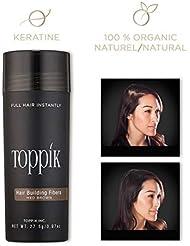 TOPPIK - Fibres Capillaires Densifiantes - Châtain - 27,5 g