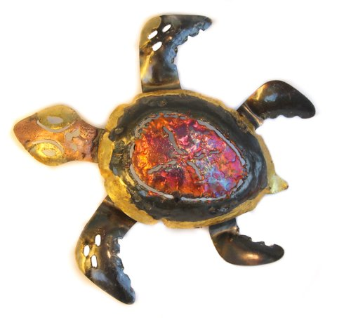 turtle-multi-coloured-recycled-metal-wall-hanging-medium-20cm-long-fair-trade-and-hand-made-from-cop