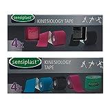 SENSIPLAST® 4 Rollen Kinesiologie-Tapes 5 m x 5 cm + Anwendungs-DVD