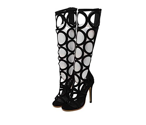 knee-high-boots-cool-boots-ultra-high-heeled-stiletto-sandals-lady-sexy-hollow-open-toe-zipper-boots