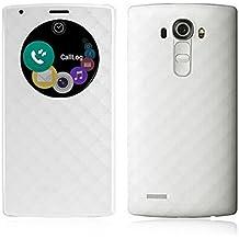 LG G4 Funda, Aimson Smartphone LG Reemplazo Círculo Rápido Funda Trasera con carga inalámbrica Qi Con NFC (blanco)