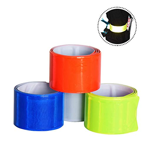6 Pieces Reflective Ankle Bands PVC Reflective Wristband Iuminous Night Running Armband, Safety Armbands High Visibility Adjustable Strap Belts Leichtgewicht Portable für Runner Outdoor-Aktivitäten.