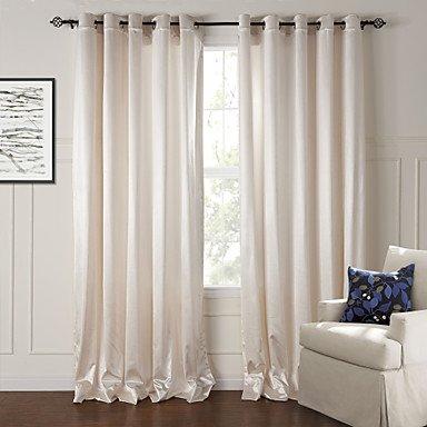 mzmz Warm Schutz & Noise reducting Verdunkeln minimalistisch beige Massiv geprägt Vorhang (Zwei), Tab Top-2*, Tab (Solids 90 Tabs)