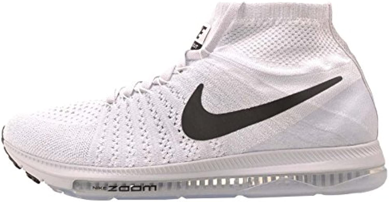 Nike Men's Zoom All Out Flyknit  White / Black   Pure Platinum  9 M US