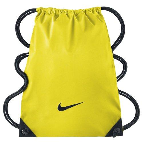 Nike Sporttasche Fundamentals Swoosh Gymsack Turnbeutel, Opti Gelb/Schwarz, One Size