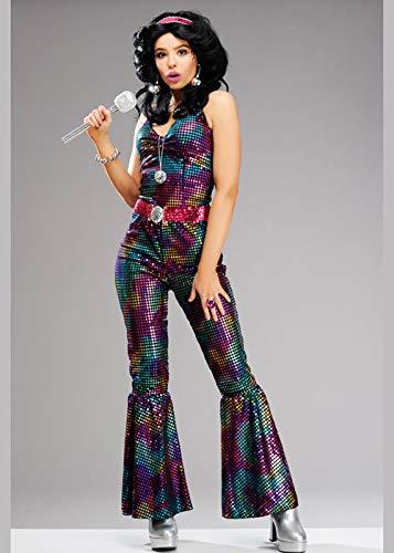 Magic Box Int. Damen 1970er Jahre Multicolor Disco Diva Kostüm Medium (UK ()