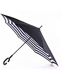 ShopyBucket New C Handle Double Layer Shape Folding And Rainy Umbrella For Women Party(color As Per Availability) - B074PTPQFY