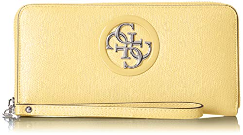 Guess Damen Open Road Slg Large Zip Around Geldbörse, Mehrfarbig (Yellow), 21x10x2 centimeters Chili Peppers-designer