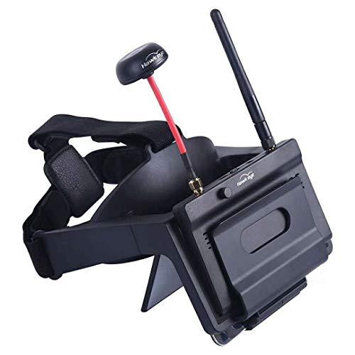 ETbotu Hawkeye FPV Brille Kopf tragen AR Brille w / Little Pilot 5 Zoll FPV Monitor Empfänger für Myopie eingebauter Refraktor für RC Drone