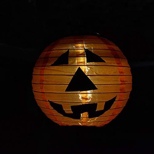 elegantstunning Solar Wasserdicht LED Halloween Kürbis Laterne Nacht Licht Lampe Aufhängen Anhänger Festival Dekoration -