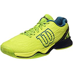 Wilson WRS323470E, Zapatillas de Tenis Hombre, Verde (Lime Punch / Navy Blazer / Blue Coral), 45 1/3 EU