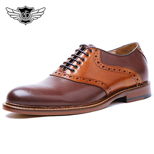 Desai-Mens-Leather-Lace-Up-Formal-Evening-Brogue-Oxford-Shoes-in-Brown