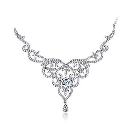 Mariage bijoux ensembles colliers/ boucles d'oreilles/925 Collier argent cubic zirconia A