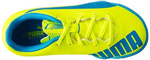 Puma evoSPEED 5.4 TT Jr, Chaussures de football mixte enfant Jaune - Gelb (safety yellow-atomic blue-white 04)