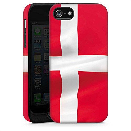Apple iPhone 4 Housse Étui Silicone Coque Protection Drapeau Danemark Danemark Drapeau Cas Tough brillant