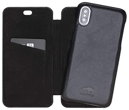 Solo Pelle Lederhülle passend zu iPhone X/XS abnehmbare Hülle (2in1) inkl. Kartenfächer für das original iPhone X/XS (F360 Elite Schwarz) Leder Apple Wallet