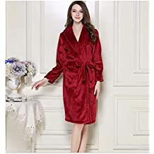 93ce1bb871de Más el tamaño de Las Mujeres Beited Pijamas, Damas Coral Fleece súper Suave  Gruesa Lujosa