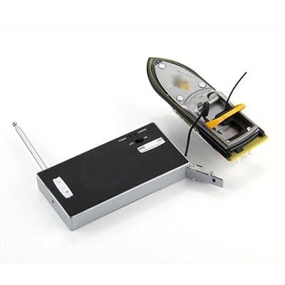 TOOGOO(R) Miniature Mini 3352 Bateau RC Radiocommande Telecommande Jaune Jouet Enfant