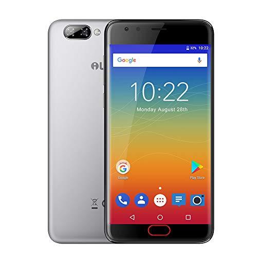 iLA D1 Telefono Movil Libres, 2GB+16GB,4G 5.2 Pulgadas Pantalla, Dual 8MP + 8MP / 0.3MP Cámara, 2600mAh Batería, Huella Digital Frontal para Desbloquear, Doble SIM Smart Phone - Gris