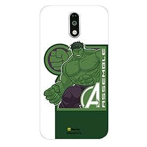Hamee Original Marvel Character Licensed Designer Cover Slim Fit Plastic Hard Back Case for Lenovo K4 Note (Hulk / Corner)