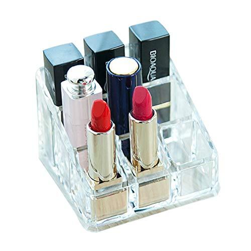 Maquillage de Stockage Boîte À Cosmétiques Rouge À Lèvres 9 Compartiment Porte-Bijoux Porte-présentoir Support Brillant À Lèvres