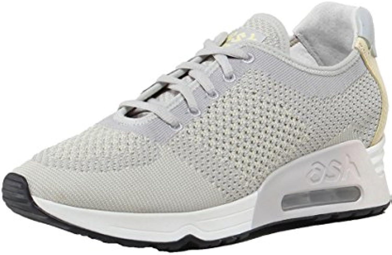 Ash Zapatos Lucky Knit Zapatillas de Cuero Pearl y Chic Mujer