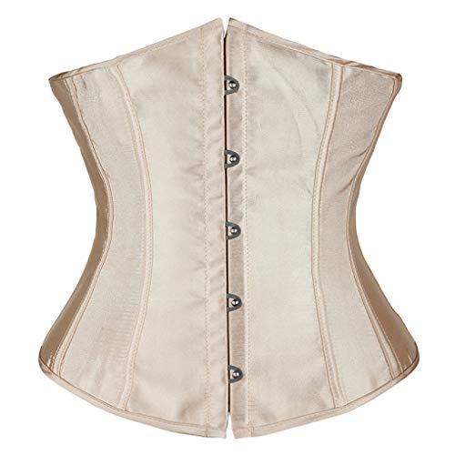 Sexy Korsett Satin Unterbrust für Frauen Gothic Taille Cincher Korsett Top Bustier Plus Size