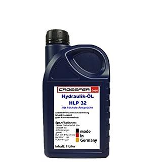 CROSSFER Hydrauliköl HLP32 1 Liter für Hydraulikpressen, Holzspalter, Wagenheber, Hydraulikflüssigkeit Hydraulikfluid 32er Viskosität
