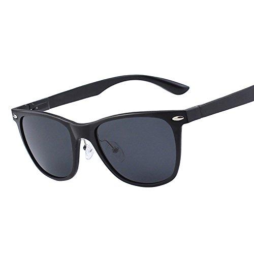 Gqueen occhiali da sole unisex montatura in metallo al-mg polarizzati gqf4