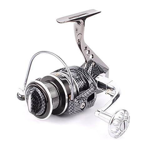 Geila Aluminium Body Spinning Angelrolle mit 12 + 1BB Kugellager für Salzwasser Süßwasserangeln (6000)
