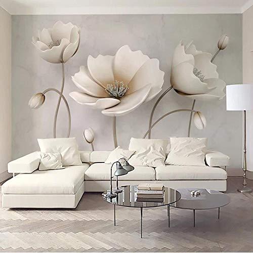 308 Pflaume (XZDZR Wandgemälde, Kunst 3D, Wohnzimmerwanddekorationsart Pflaume Feste Europäische Blume, 308X220Cm)