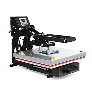 VEVOR Trasferimento Press Pressa a Caldo per Sublimazione T-shirt Heat Press Machine 38cm x 38cm Apertura Automatico Magnetica Equilibratore Multimolla Regolabile
