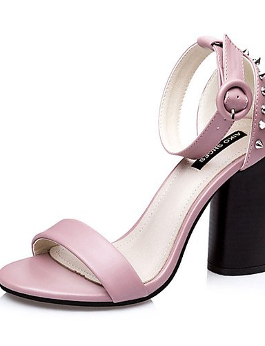 WSS 2016 Chaussures Femme-Décontracté-Noir / Vert / Rose / Gris-Gros Talon-Talons-Talons-Polyuréthane black-us5 / eu35 / uk3 / cn34
